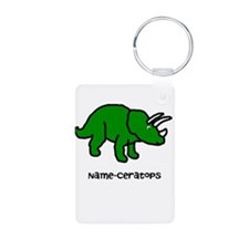 Name your own Triceratops! Keychains