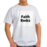 Faith Rocks Ash Grey T-Shirt