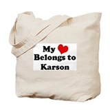 My Heart: Karson Tote Bag