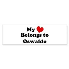 My Heart: Oswaldo Bumper Bumper Sticker
