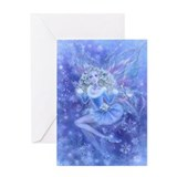 Blue Christmas Fairy Greeting Card