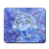 Blue Christmas Fairy Mousepad