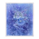 Blue Christmas Fairy Throw Blanket
