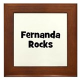 Fernanda Rocks Framed Tile