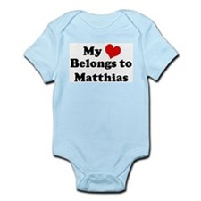 My Heart: Matthias Infant Creeper