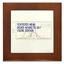 Statistics Means Uncertainty Framed Tile