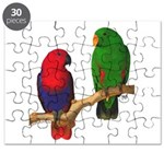 Eclectus Pair Digital Oil Puzzle