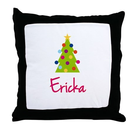 Christmas Tree Ericka Throw Pillow