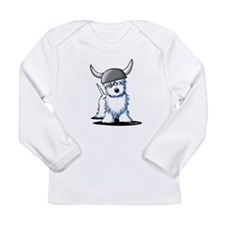 Viking Westie Terrier Long Sleeve Infant T-Shirt