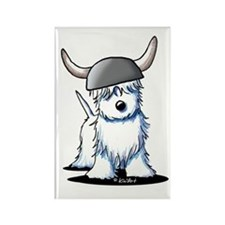 Viking Westie Terrier Rectangle Magnet