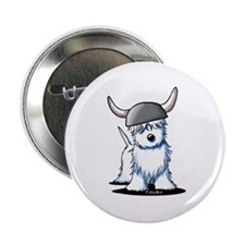 "Viking Westie Terrier 2.25"" Button (100 pack)"