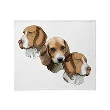 beagle portraits Throw Blanket