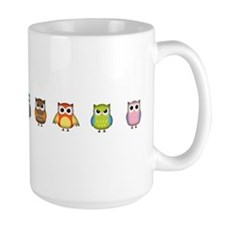 Cute and Colorful Owls Coffee Mug