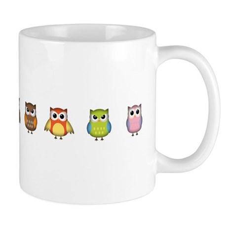 Cute And Colorful Owls Mug By Robmolily