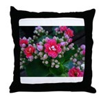 .pink kalanchoe. Throw Pillow