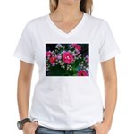 .pink kalanchoe. Women's V-Neck T-Shirt