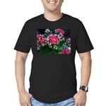 .pink kalanchoe. Men's Fitted T-Shirt (dark)