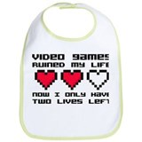 Video Games Ruined My Life Bib