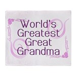 World's Greatest Great Grandma Throw Blanket