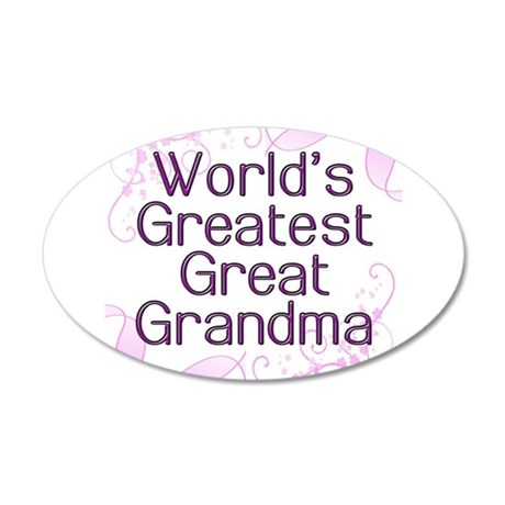 World's Greatest Great Grandma 38.5 x 24.5 Oval Wa