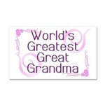 World's Greatest Great Grandma Car Magnet 20 x 12