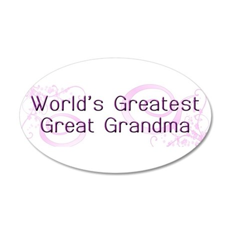 World's Greatest Great Grandma 22x14 Oval Wall Pee