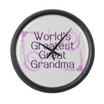World's Greatest Great Grandma Large Wall Clock