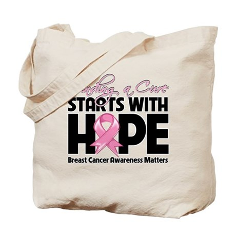 Cure Hope Breast Cancer Tote Bag