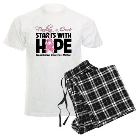 Cure Hope Breast Cancer Men's Light Pajamas