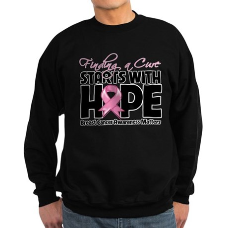 Cure Hope Breast Cancer Sweatshirt (dark)