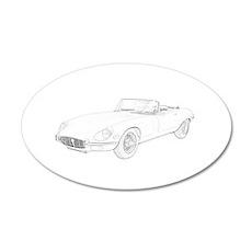 Jaguar XKE 1972 38.5 x 24.5 Oval Wall Peel