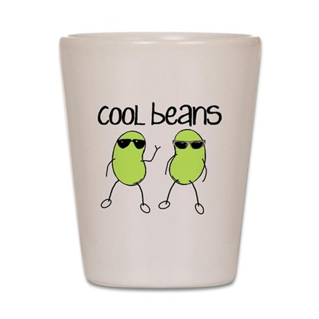 Animal Gifts > Animal Kitchen & Entertaining > Cool Beans Shot Glass: www.cafepress.com/+cool_beans_shot_glass,601395114