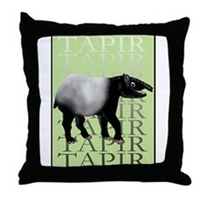 Tapir t-shirt Throw Pillow