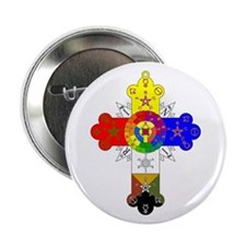 "Rose Cross 2.25"" Button"