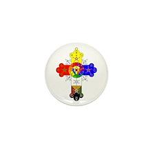 Rose Cross Mini Button (10 pack)