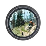 Mountain Bike Wall Clock