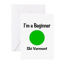 Beginner Ski Vermont Greeting Cards (Pk of 20)