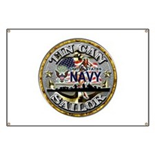USN Tin Can Sailor Babe Banner