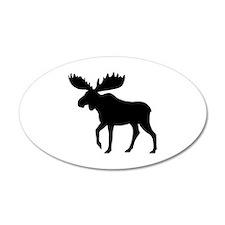 Moose 22x14 Oval Wall Peel
