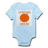Orange Circle Infant Creeper