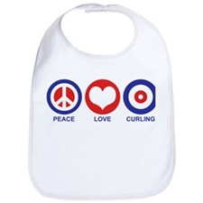 Peace Love Curling Bib