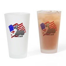 Schnauzer USA Drinking Glass