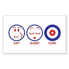 Eat Sleep Curl Decal