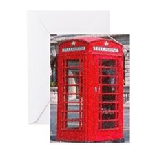 British Phone Booth Greeting Cards (Pk of 10)