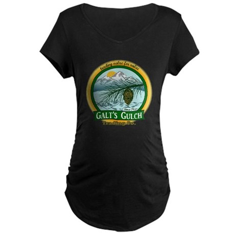 Galt's Gulch Green/Gold Maternity Dark T-Shirt