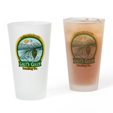 Galt's Gulch Green/Gold Drinking Glass