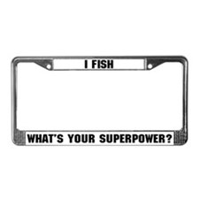 Fishing Superpower License Plate Frame
