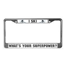 Ski Superhero License Plate Frame