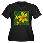 .coreopsis. Women's Plus Size V-Neck Dark T-Shirt