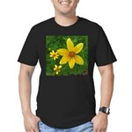 .coreopsis. Men's Fitted T-Shirt (dark)